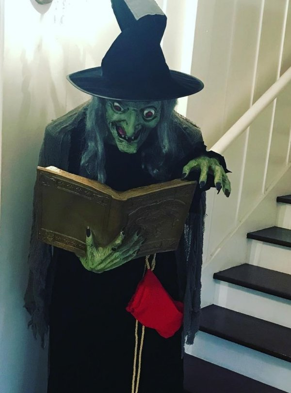 Witch is standing to welcome your guests.