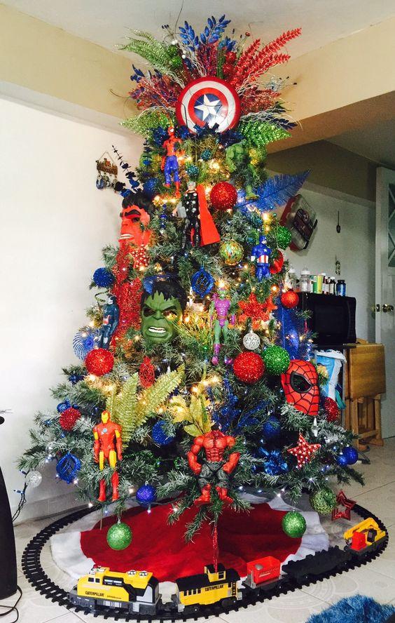 Wow superhero Christmas tree decoration.