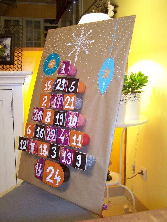 Yogurts handmade advent calendar.