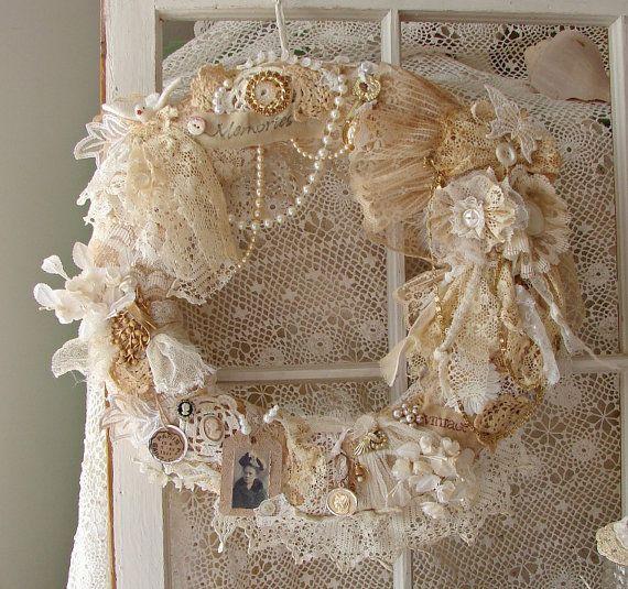 Antique wreath for door decoration.