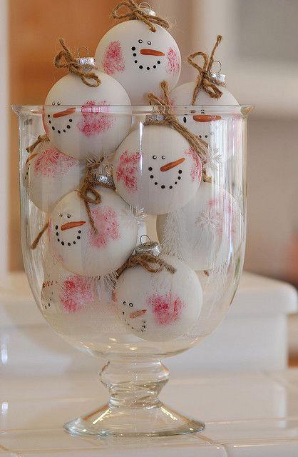 Best handmade snowman balls for Christmas tree.