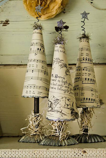 Classic vintage decoration with these paper trees.