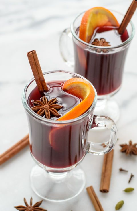 Cozy slow cooker spiced wine.