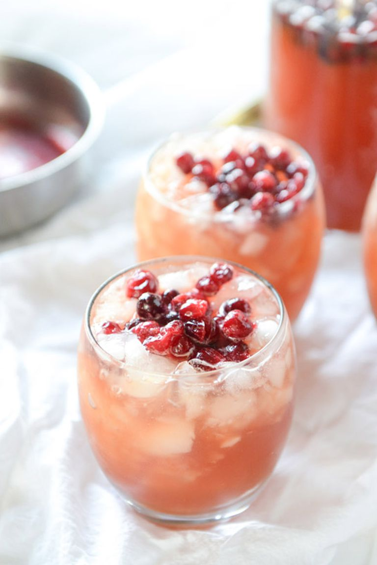 Cranberry cider punch.