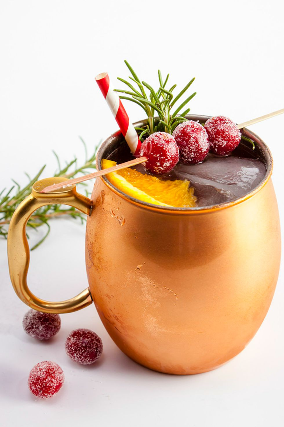 Cranberry holiday mule.