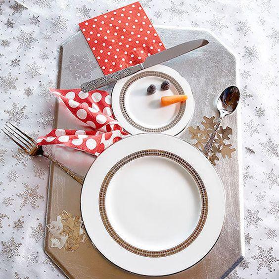 Cute plate snowman decoration idea.