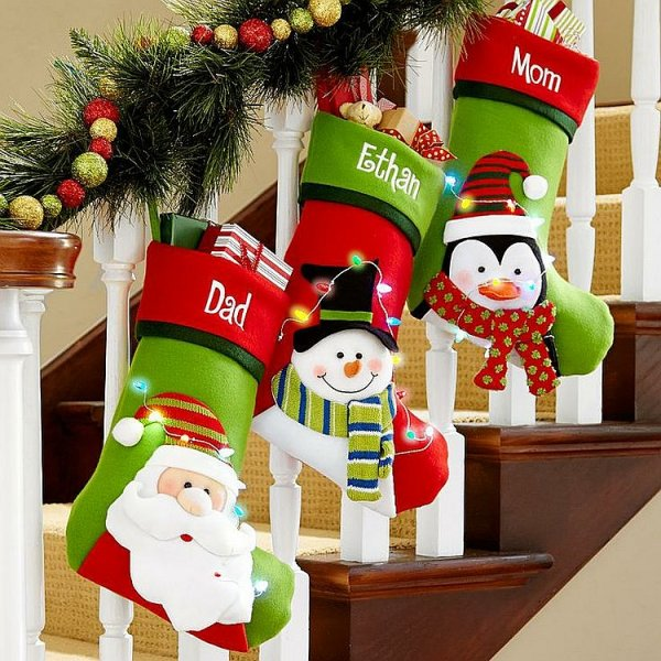 Cute red and green stockings with full of fun.