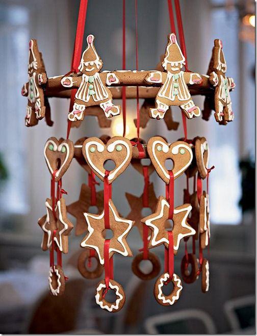 Dashing gingerbread chandelier.
