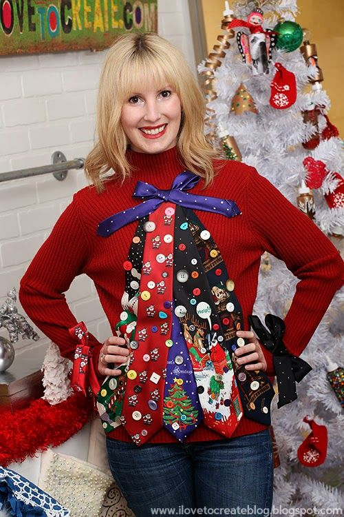 dazzling ugly tie christmas sweater