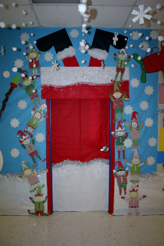 exclusive santa stuck classroom door decoration