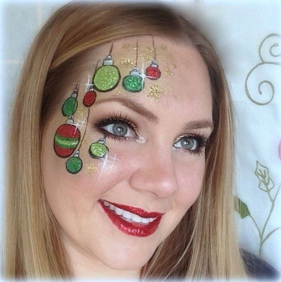 Fabulous idea to paint ornaments on face.