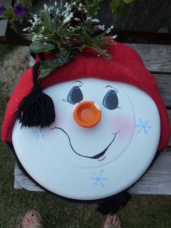 Lot lead turn into snowman.