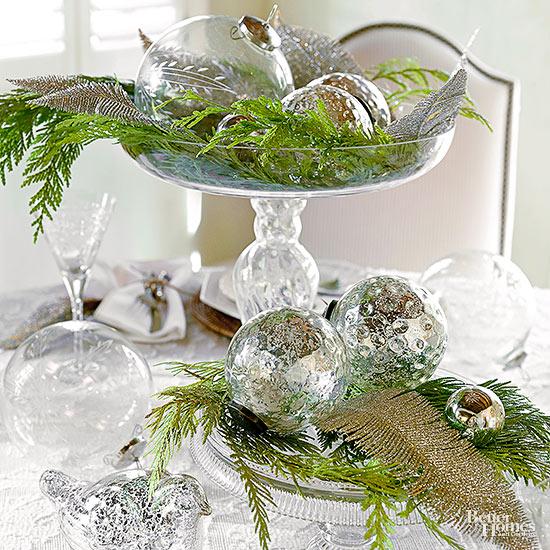 Mind-blowing mercury glass ornaments.