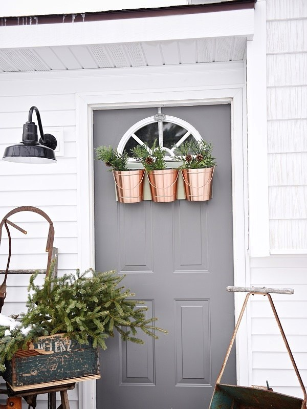 Modern touch shabby chic porch decoration.