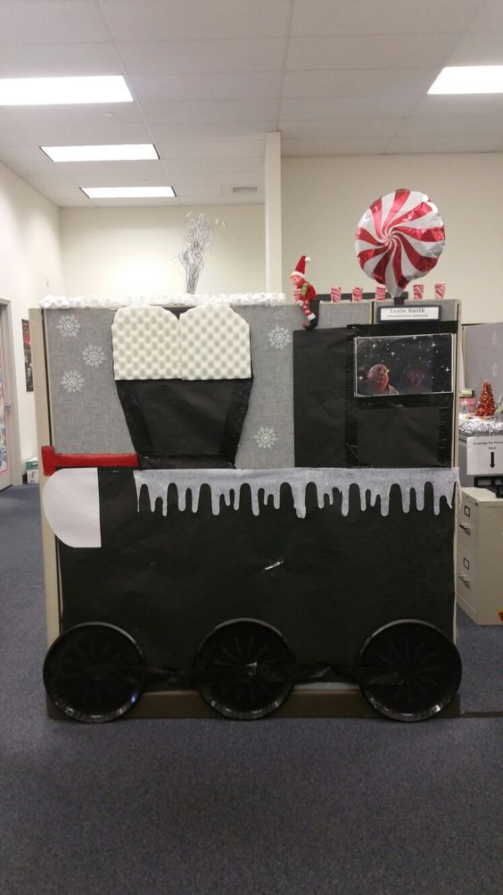 Polar express in office.
