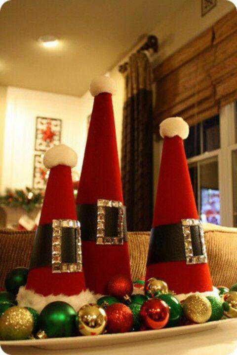 Rocking felt form santa hat Christmas tree.