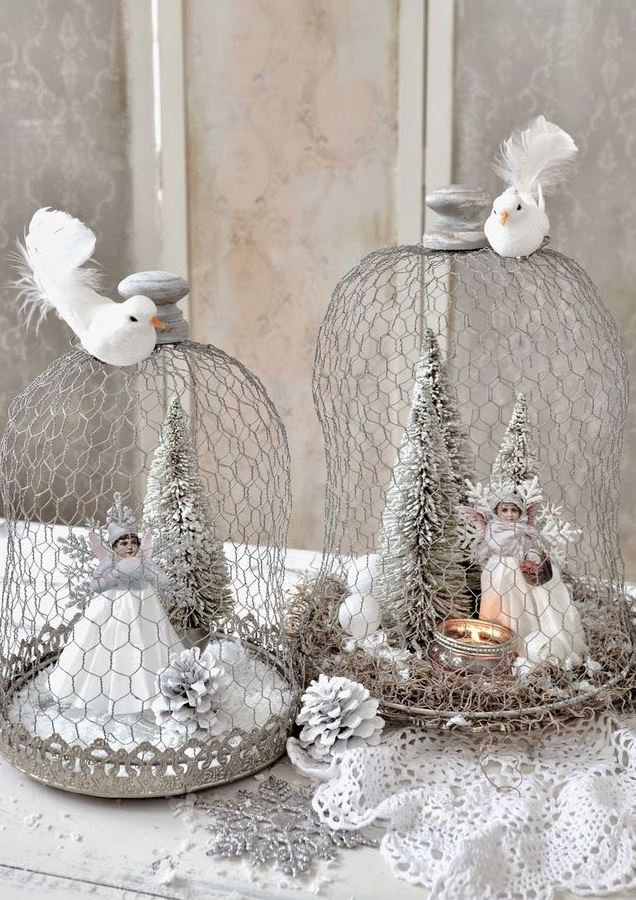 Unique shabby chic Christmas decorations.