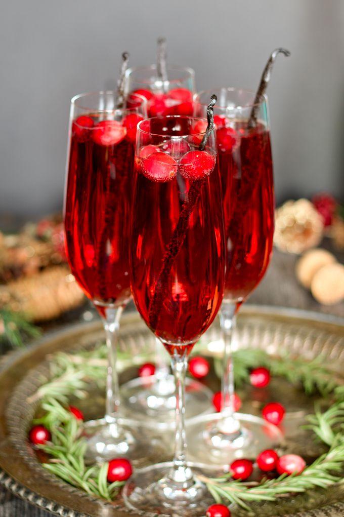 Unique vanilla cranberry mimosa.