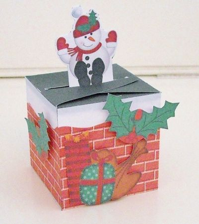 3D snowman gift box for Christmas.