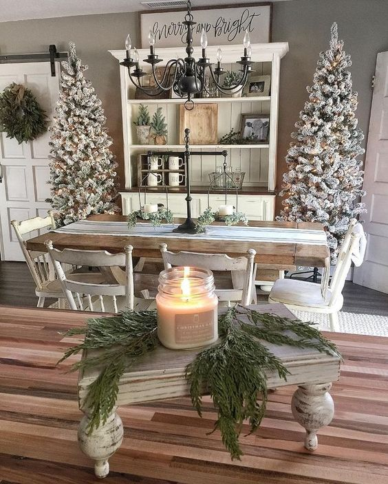 Amazing rustic touch Christmas home decor.