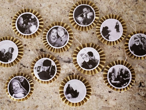 Chic paper photo fan ornaments.