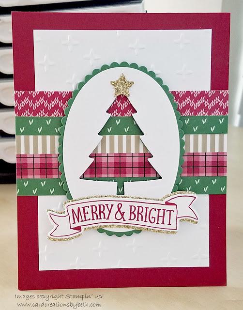 Cool washi tape Christmas tree card.