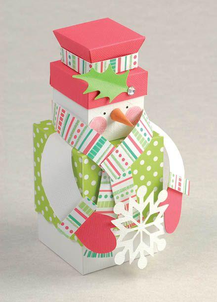 Cute stacking snowman mini gift box.