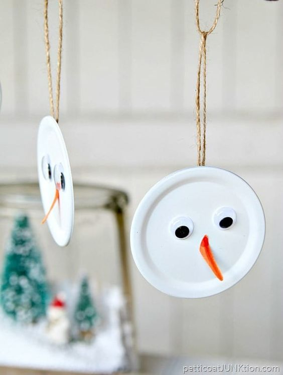 Easy snowman craft for kids.