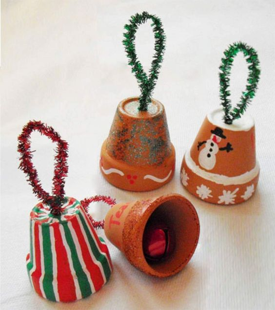 Handmade Christmas bell ornament.