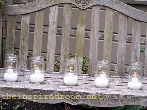Jingle bell mason jar candle.