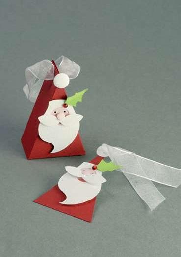 Tree santa mini gift box idea.