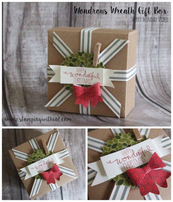 Wonderful wreath gift box.