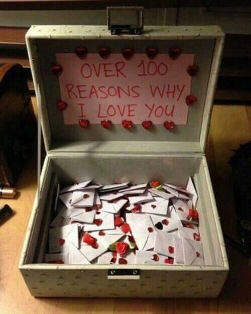 100 reasons why I Love You.