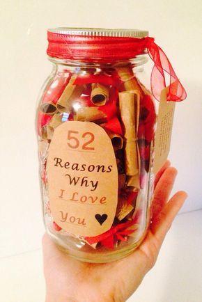 52 reasons why I love you gift jar.