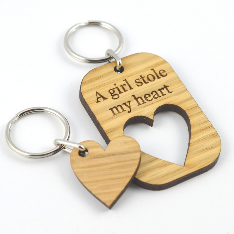 A girl stole my heart keyring for your girlfriend.