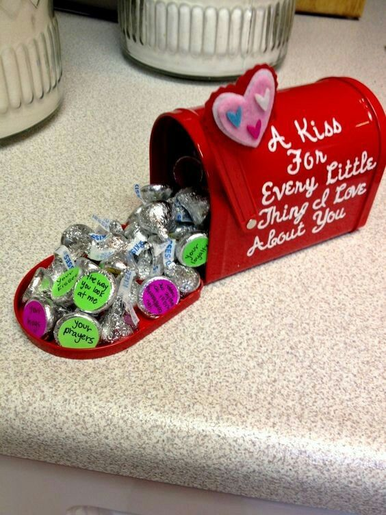 A mailbox is full of kisses.