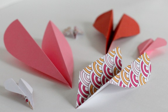 Adorable Valentine airplane hearts for kids.