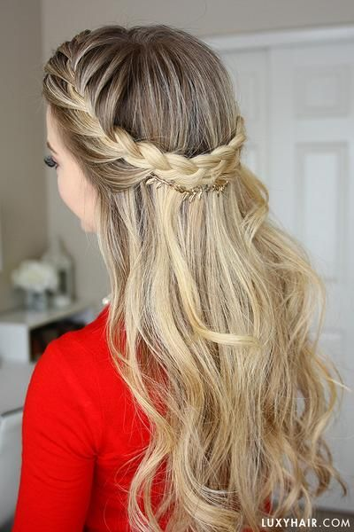 Adorable french braid crown with missy sue.