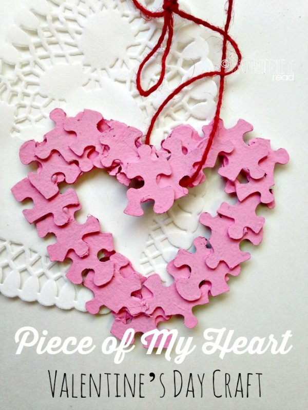 Adorable piece of my heart Valentine's day craft.