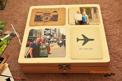 Adventures vacation memory box.