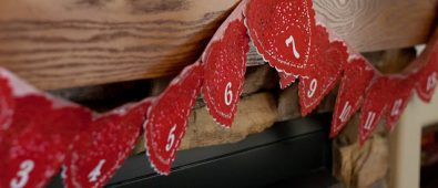 Amazing love letter garland advent calendar.