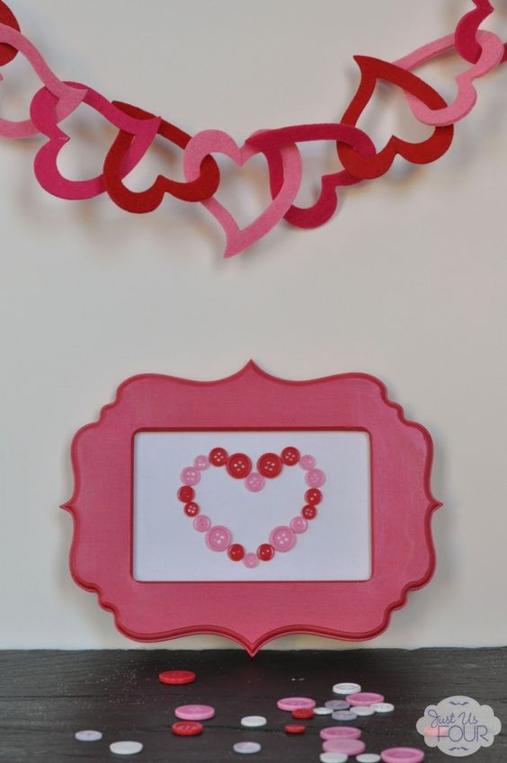 Awesome heart cutout garland idea.
