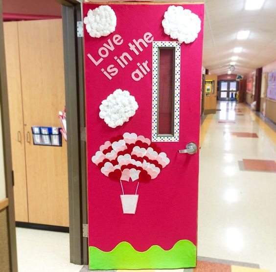Awesome love is in the Valentines day door decor idea.