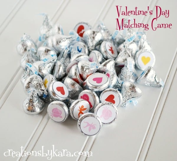 Awesome matching game for Valentines day party.
