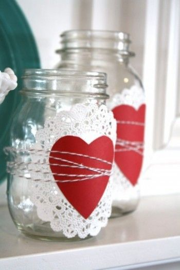 Awesome paper craft with love design for mason jar decoration.