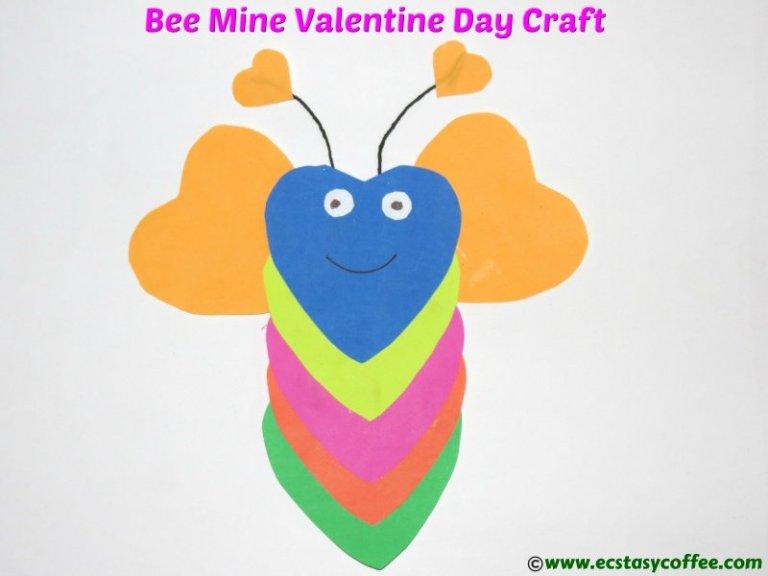 Be mine Valentines day kids craft.