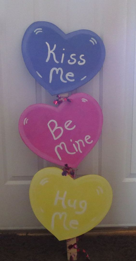 Beautiful conversation heart sign board.