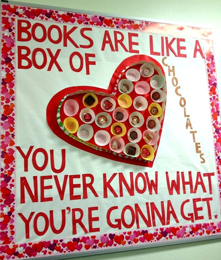 Books are like a box of chocolate.
