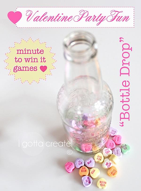 Bottle drop minute to win it game.