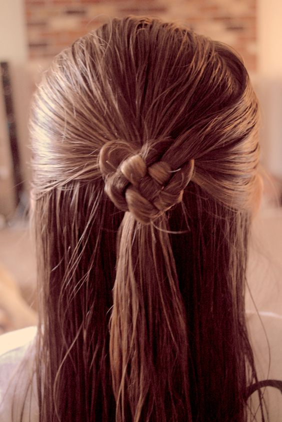 Celtic heart hairstyle for Valentines day.